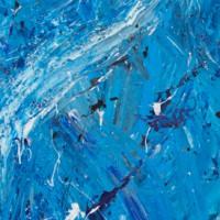 """""""Genèse 1.2 Tohu Bohu"""" (Emmanuel SUZAN) Acrylique sur bois 200x40cm"""