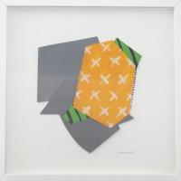 """""""Sans titre"""" (Catherine GANGLOFF) Collage, acrylique sur papier 40x40cm"""