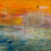 """""""Hambourg"""" (Christelle HORR) Peinture à l'huile diluée"""