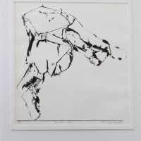 """Avec Rodin ...Iris"" (Michel KANTER) Transfert, crayon gras 28x30cm"