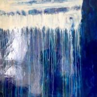 """""""Thalit Atik"""" (Richard ABOAF) Huile sur toile 120x120cm"""