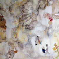 « La Rencontre » (Dominique SALMON) Collage et acrylique