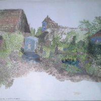 """""""Jardin de la Ferme Bleue"""" (Geneviève MUNCH) Encres sur calques."""