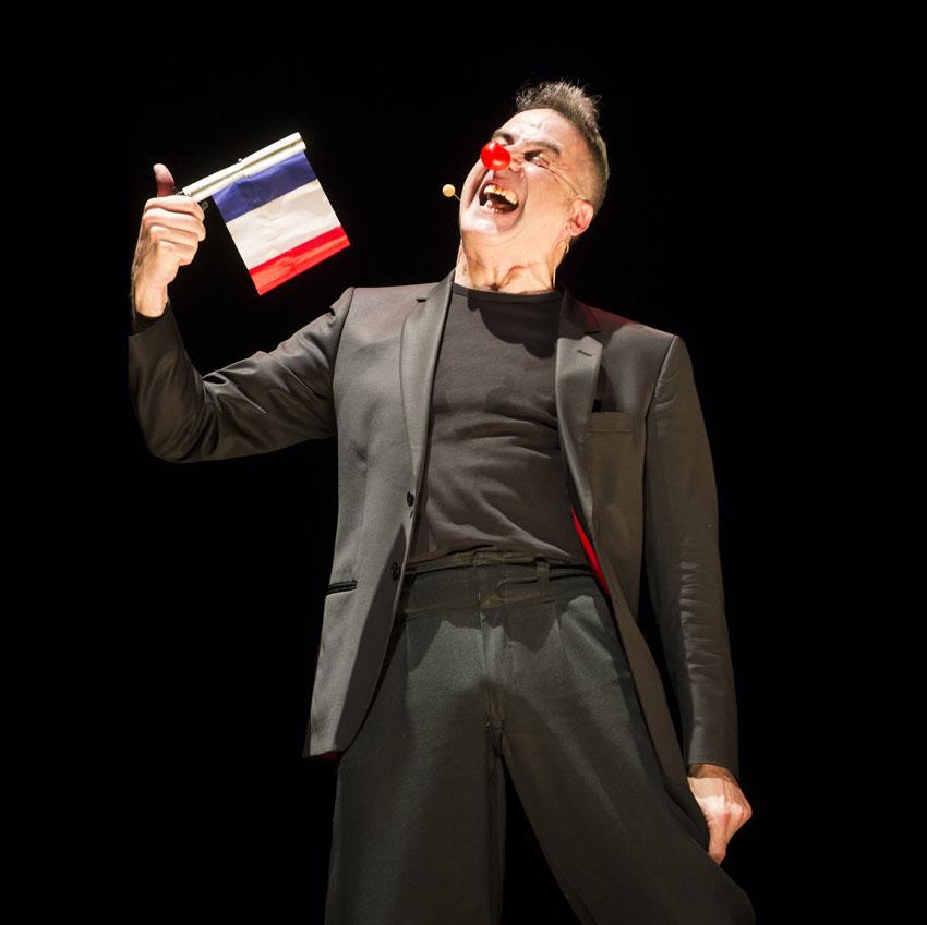 Pierre Fatus sur scène/photo Nicolas Messner