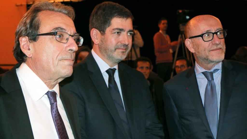 Roland Ries (PS), maire de Strasbourg, Jean Rottner (LR), maire de Mulhouse et Alain Jakubowicz, président national de la Licra.